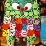 กระเป๋านกฮูก สะพายข้าง ใบใหญ่ขนาด Owl Bag 28 x 40 cm. 1