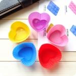 พิมพ์ซิลิโคน รูปหัวใจ 5 ซม.(12 ชิ้น)