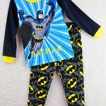 ชุดนอนเด็ก (งานส่งออก USA) ลายการ์ตูน BATMAN สีฟ้า-เทา แขนยาว