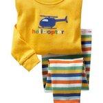 ชุดนอน Baby Gap ลาย Helicopter สีเหลือง แขนยาว