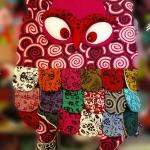 กระเป๋านกฮูก สะพายข้าง ขนาดกลาง Owl Bag 22 x 30 cm.