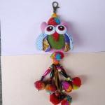 พวงกุญแจตุ๊กตานกฮูกพวงใหญ่ ขนาด 8 x 25 cm. 3