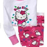 ชุดนอน Baby Gap ลาย Hello Kitty สีขาว-ชมพู แขนยาว