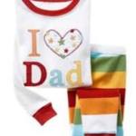 ชุดนอนเด็ก Baby Gap ลาย I Love Dad สีขาว แขนยาว