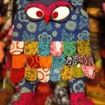 กระเป๋านกฮูก สะพายข้าง ใบใหญ่ขนาด Owl Bag 28 x 40 cm. 4