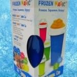 แก้วเกล็ดหิมะ แก้วทำสเลอปี้ สีฟ้า