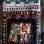 กระเป๋าผ้าฝ้ายสะพายเล็กบางลายช้าง 12