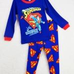 ชุดนอนเด็ก (งานส่งออก USA) ลายการ์ตูน Superman - Man of Steel สีน้ำเงิน แขนยาว