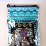 กระเป๋าผ้าฝ้ายสะพายเล็กบางลายช้าง 1