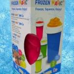แก้วเกล็ดหิมะ แก้วทำสเลอปี้ สีชมพู
