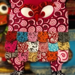กระเป๋านกฮูก สะพายข้าง ใบใหญ่ขนาด Owl Bag 28 x 40 cm. 8