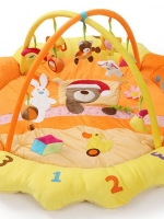PG1670Orange เพลยิมลายลูกหมีง่วงนอนสีส้ม