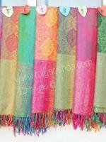 ผ้าพันคอ Pashmina พาสมีน่า ลาย ไทย PS1107T