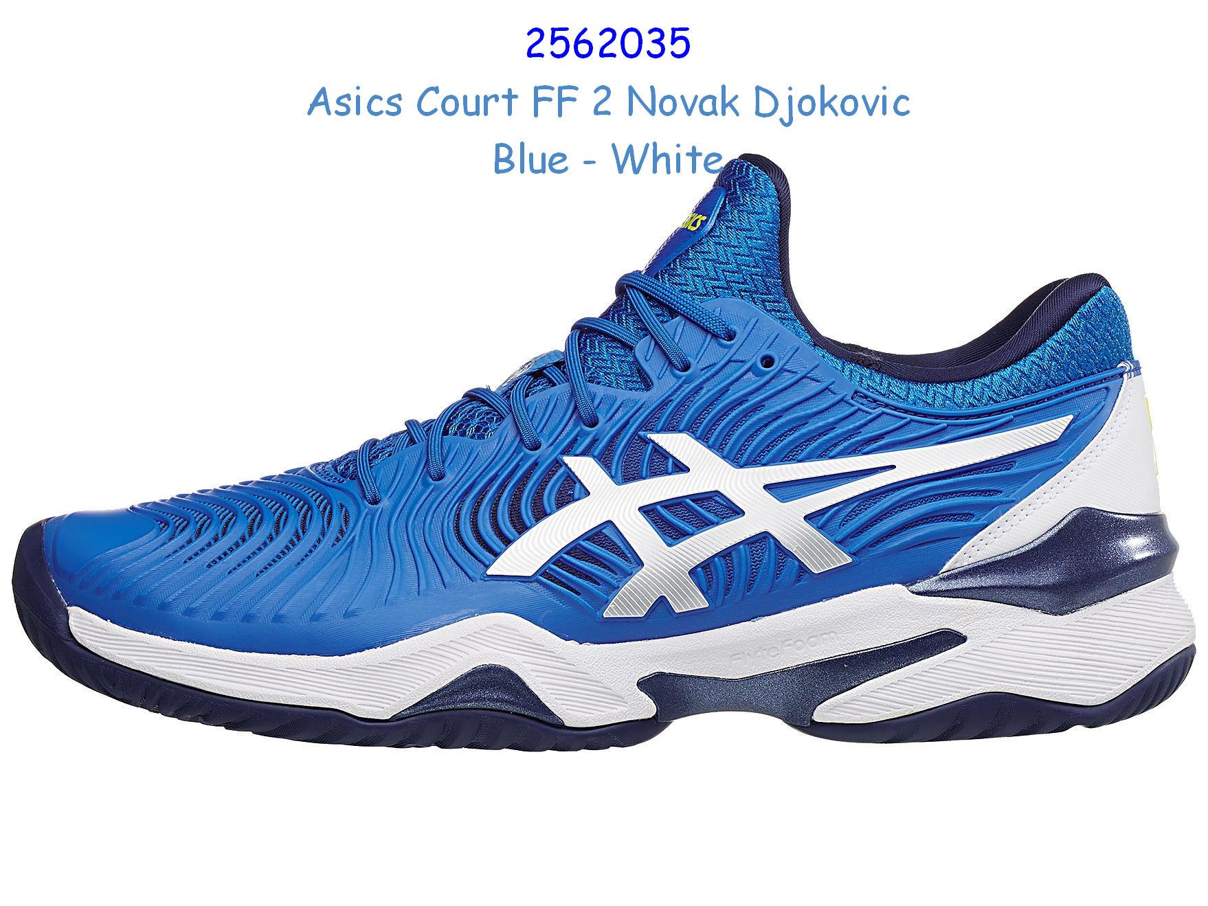 Asics Court Ff 2 Novak Djokovic Blue White Vrhotshot Inspired By Lnwshop Com