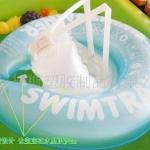 ห่วงยางพยุงหลังล็อค 2 ชั้นสีฟ้า Swimming Trainer สุดฮิต (6 เดือน - 2 ขวบ)