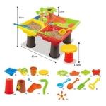 ชุดโต๊ะเล่นทรายทรงสี่เหลี่ยม 25 ชิ้น รุ่นต้นไม้ชุดใหญ่ สุดคุ้ม (Sand Water Tables) พร้อมเก้าอี้