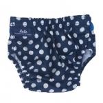 ส่งฟรี ลทบ.กางเกงผ้าอ้อมรุ่นใหม่ปรับขนาดได้ ลายจุดสีน้ำเงิน