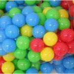 บอลพลาสติกหลากสีเนื้อหนาอย่างดี 100 ลูก