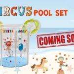 สระว่ายน้ำใสทรงสูง เสริมพัฒนาการ ขนาด 80x80 ซม.ครบเซ็ท แถม ห่วงยางสวมคอเกรดพรีเมี่ยม *** รุ่น Circus ส่งฟรี kerry !!