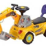 ส่งฟรี !! รถขาไถ...แมคโครตักดินแบบนั่งได้ มีสีเหลือง