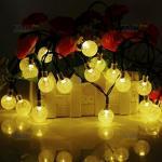 ไฟกระพริบโซล่าเซลล์ รูป บอลกลม 30 ชิ้น (เเสง : เหลืองวอมไวท์)