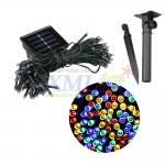 Waterproof solar panel powered 100 LED string light for outdoor decoration (Mixed 4 colors)