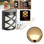 6 LED solar wall lamp net style (Warm white light)