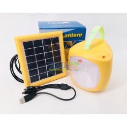 ชุดโคมไฟโซล่าเซลล์อเนกประสงค์ + Power bank (รุ่น Yellow Lantern 2018)