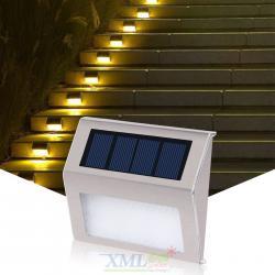 ไฟโซล่าเซลล์ติดบันได 2 LED V.2 (แสง : เหลืองวอมไวท์)