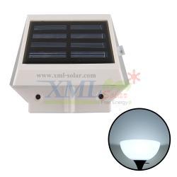 โคมไฟโซล่าเซลล์ ติดผนัง 4 LED (เเสง : ขาว)
