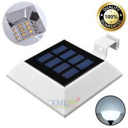 โคมไฟโซล่าเซลล์ ทรงจตุรัส 6 SMD LED เเสง : ขาว