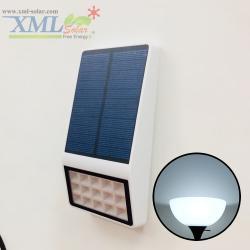โคมไฟโซล่าเซลล์ ติดผนัง 15 SMD LED (ตัวแบน ขาว) (เเสง : ขาว)