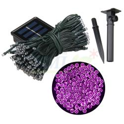 ไฟกระพริบโซล่าเซลล์ 200 LED (2 ฟังก์ชั่น) (เเสง : สีชมพู)