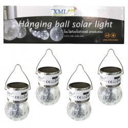 ไฟห้อยพลังงานแสงอาทิตย์ Crackle ball แสงขาว (กล่อง 4 ชิ้น)