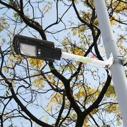 โคมไฟถนนโซล่าเซลล์ 60 SMD LED + Motion (โคมดำ)