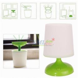 โคมไฟตั้งโต๊ะโซล่าเซลล์ ทรงModern (สีเขียว)