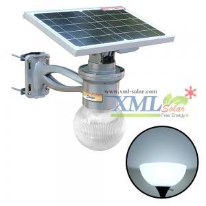 solar lamp light with 12 Watt Monocrystalline solar panel (Circle shape)