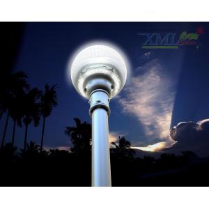 XML-Solar โคมไฟหัวเสาโซล่าเซลล์ ทรงกลม + Motion sensor (เเสง : ขาว)