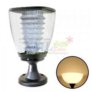 Post top solar light in bowl shape (Warm white)