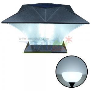 โคมไฟหัวเสาโซล่าเซลล์ ทรงสี่เหลี่ยม (เเสง : ขาว)