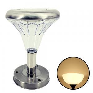 โคมไฟหัวเสาโซล่าเซลล์ ทรงกรวย (สเเตนเลส) (เเสง : เหลืองวอมไวท์)