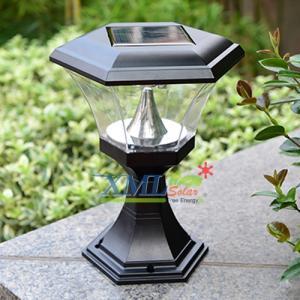 โคมไฟหัวเสา ทรงหกเหลี่ยม 8 Super SMD LED (เเสง : ขาว)