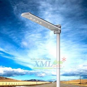 โคมไฟถนนโซล่าเซลล์ 40 LEDs 15 Watt Polycrystalline + Motion (แสง ขาว)