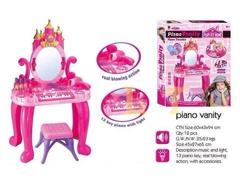 โต๊ะเครื่องแป้ง พร้อมเปียโน 13 Keys