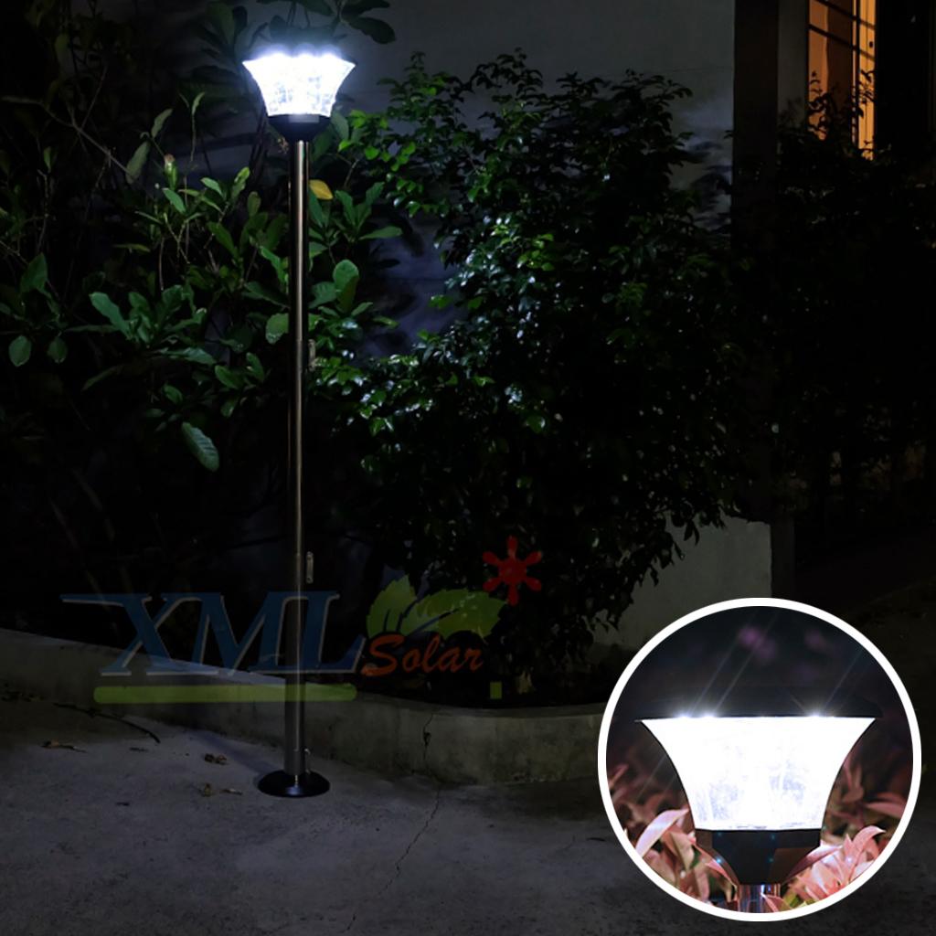 ไฟปักสนามโซล่าเซลล์ 8 Super SMD LED (แบบเหลี่ยม) สูง 140 ซม. (เเสง : ขาว)