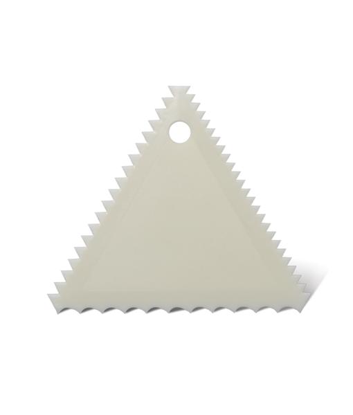 หวีแต่งเค้กพลาสติก ทรงสามเหลี่ยม (นำเข้าเกาหลี)