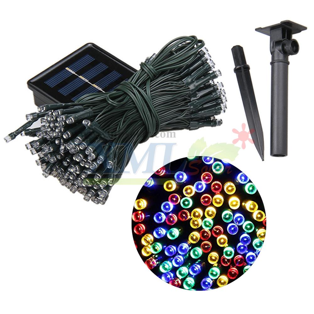 ไฟกระพริบโซล่าเซลล์ 200 LED (8 ฟังก์ชั่น) (เเสง : ผสม4สี)