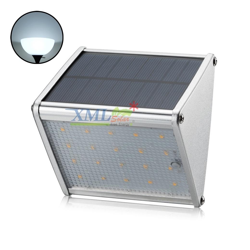 โคมไฟโซล่าเซลล์ ติดผนัง ทรงสามเหลี่ยม 20 SMD LED (เเสง : ขาว)