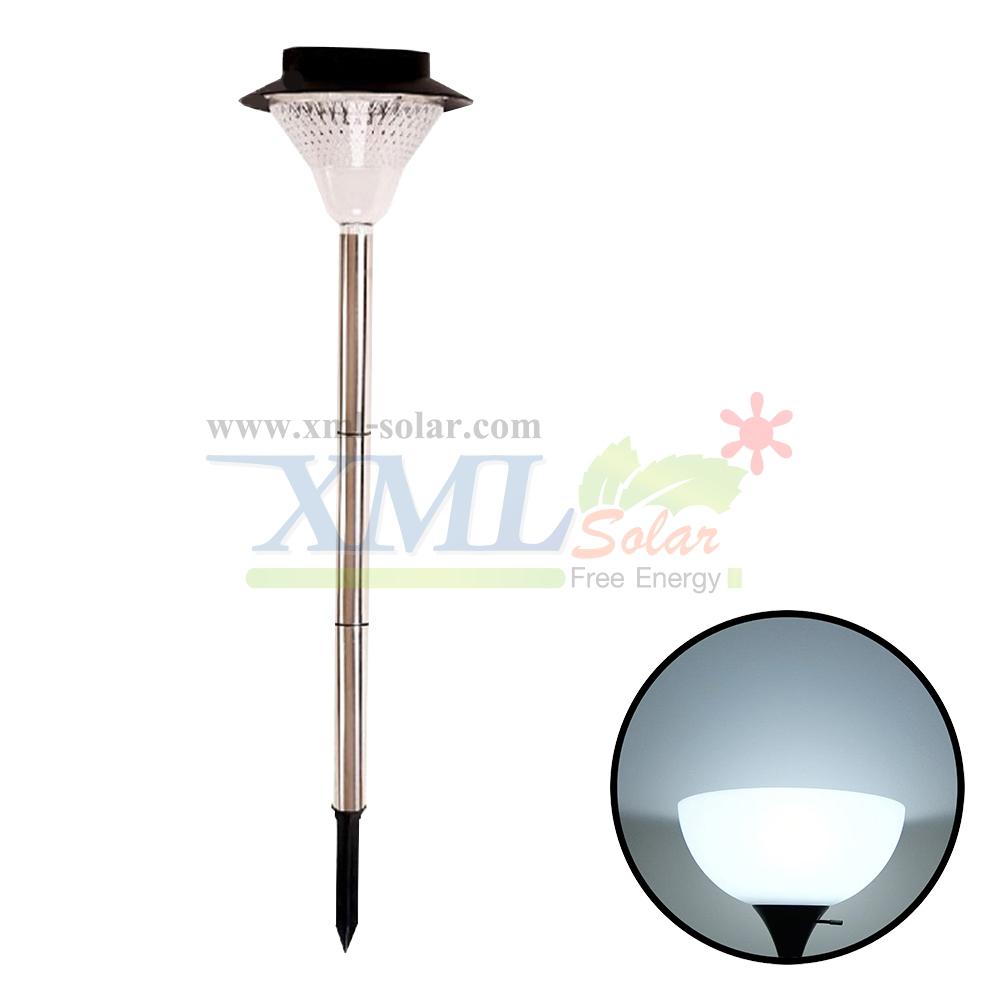 ไฟปักสนามโซล่าเซลล์ 24 LED (สแตนเลส) (เเสง : ขาว)
