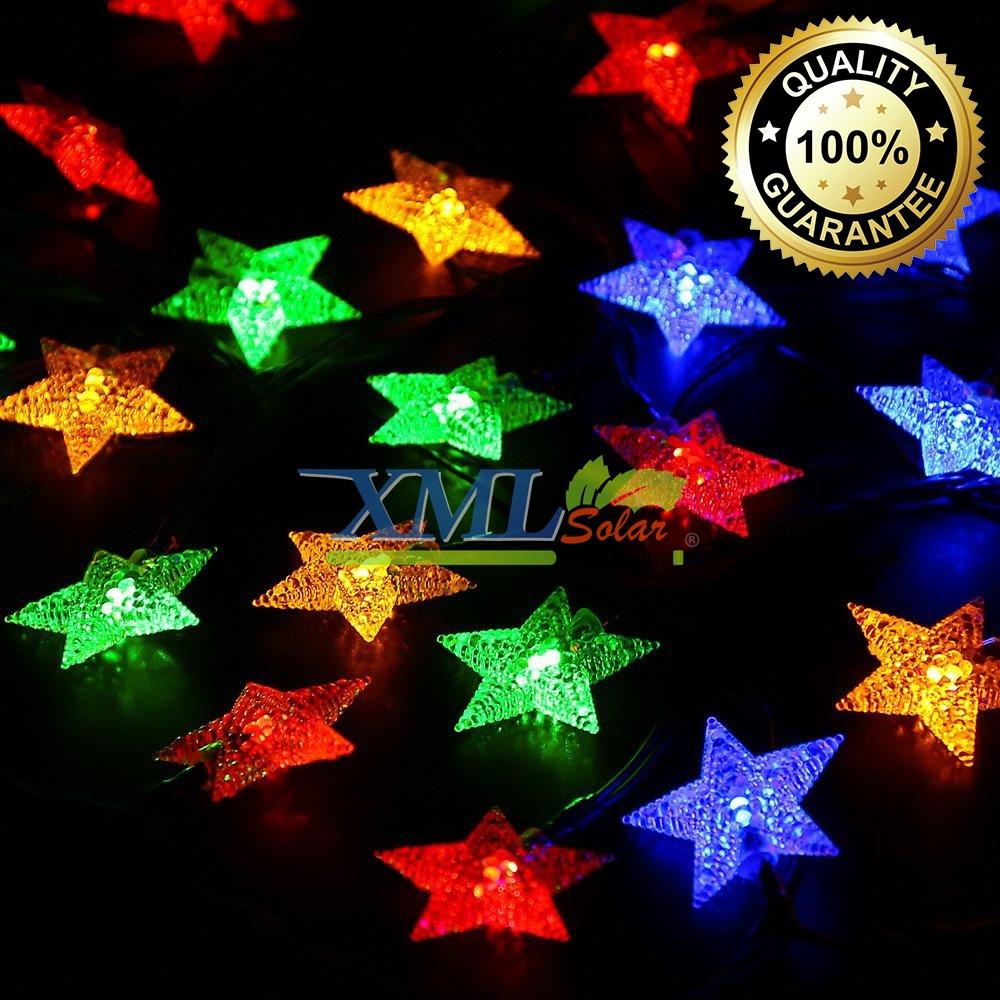 ไฟกระพริบโซล่าเซลล์ ทรงดาว 30 ดวง (เเสง : หลากสี)